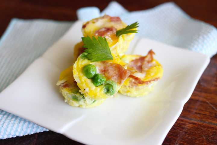 Hash Brown Egg Cups on Plate