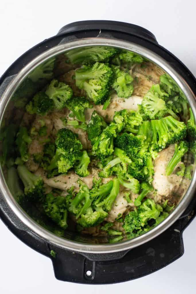 brocolli in pressure cooker