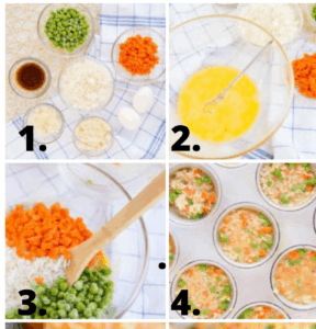 how to make baked rice cups