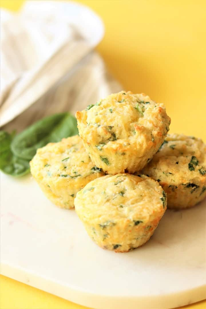 Spinach Cheese Muffins on Snack Board