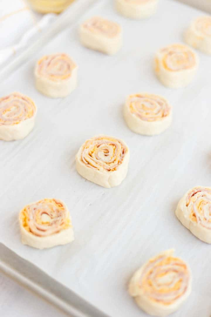rolled uncooked stuffed dough