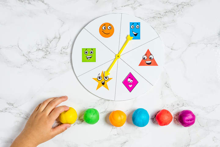 Colorful Play Doh With Spinner