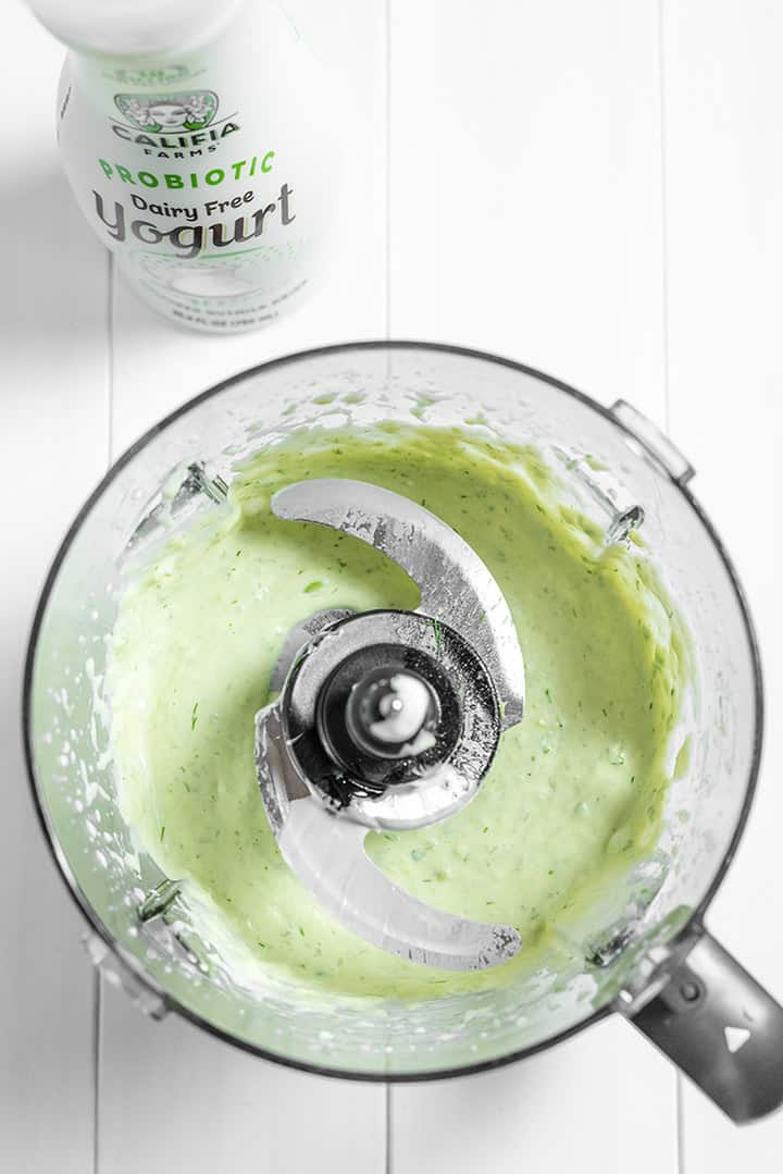 Blended dip in a food processor