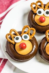 Close up for Reindeer Donuts