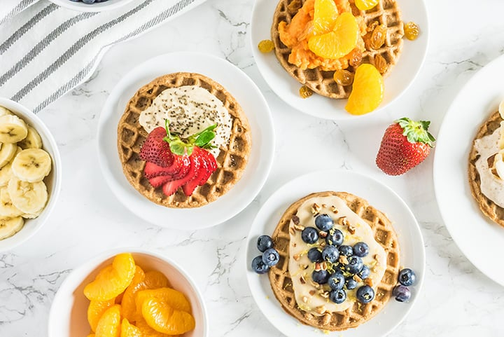 Waffle spread of all toppings