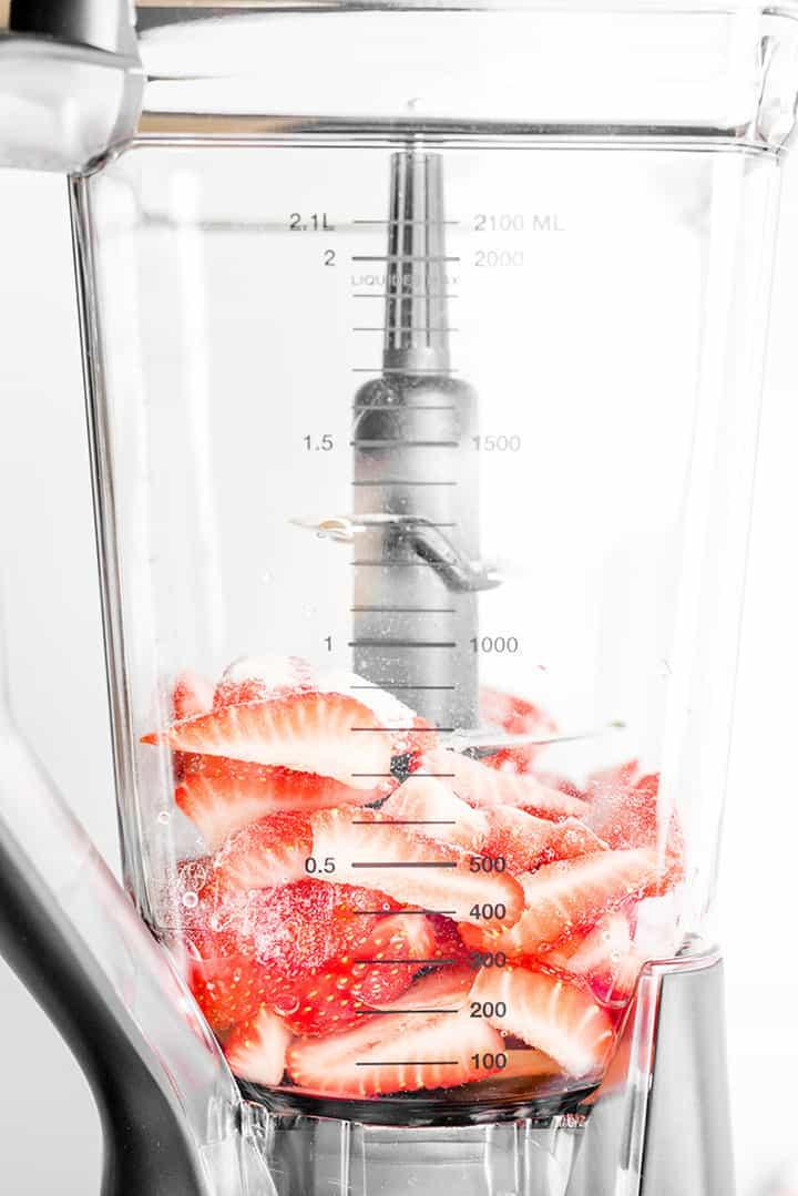 Blender of strawberries