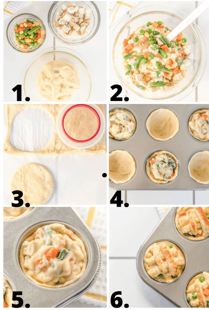 how to make chicken pot pies