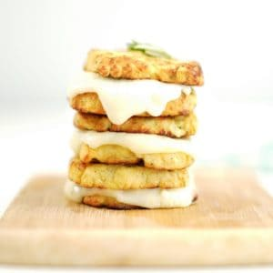 stacked cauliflower grilled cheese