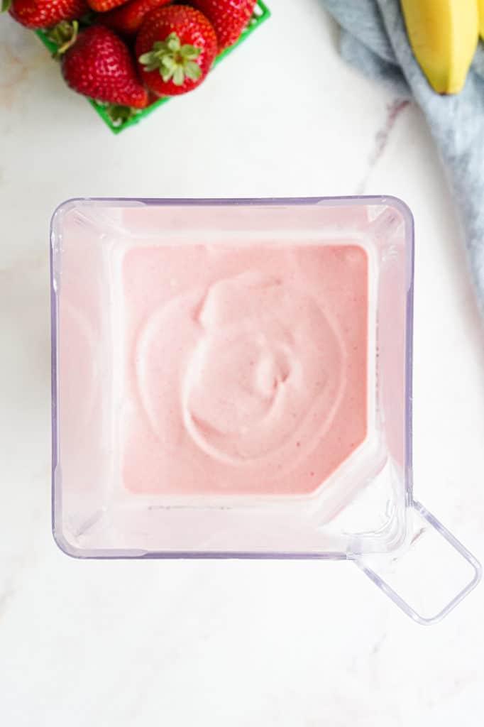 Blended ice cream in ablender