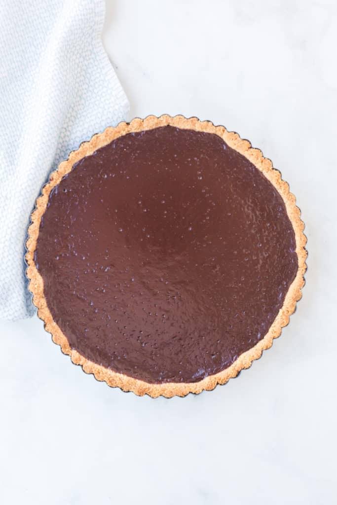 Cooked chocolate tart