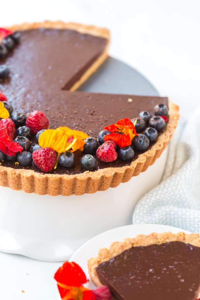 Close of up tart