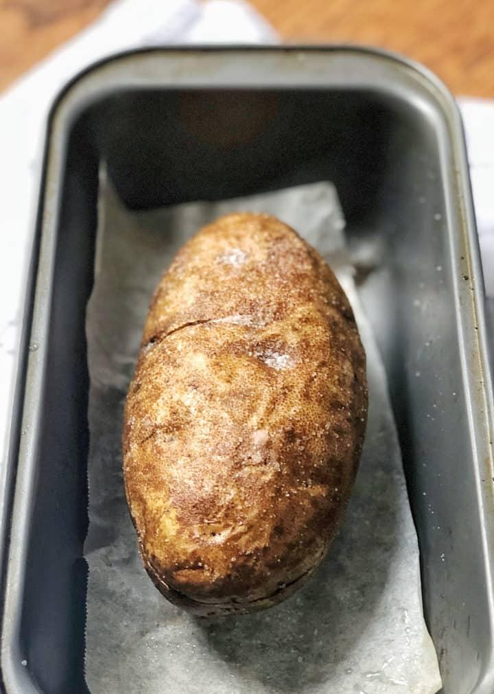 Potato in a baking pan