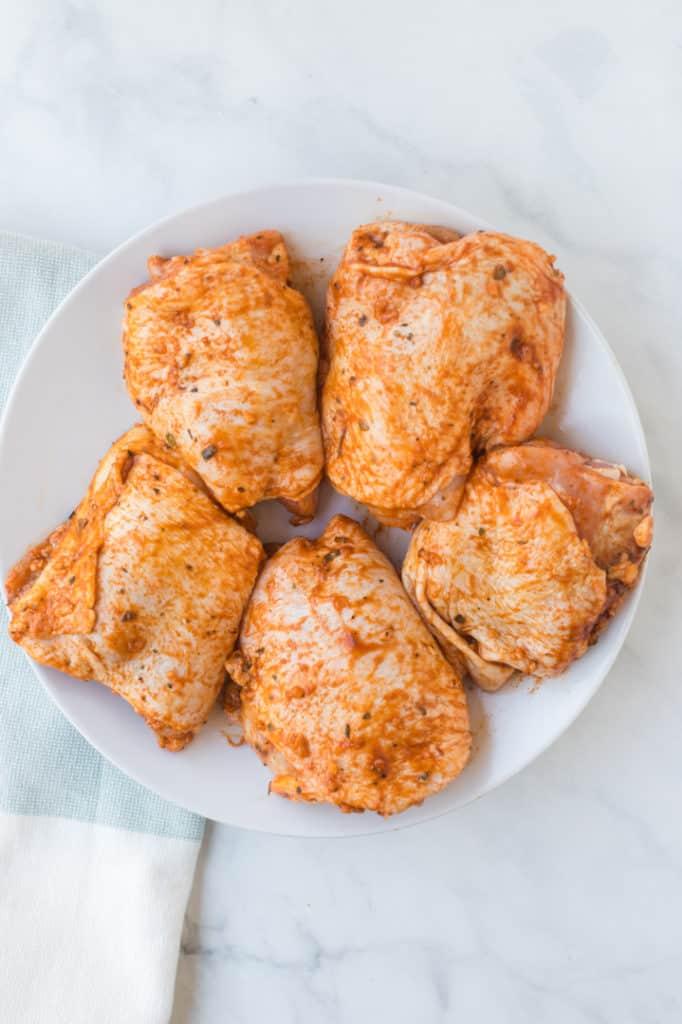 Chicken with seasonings