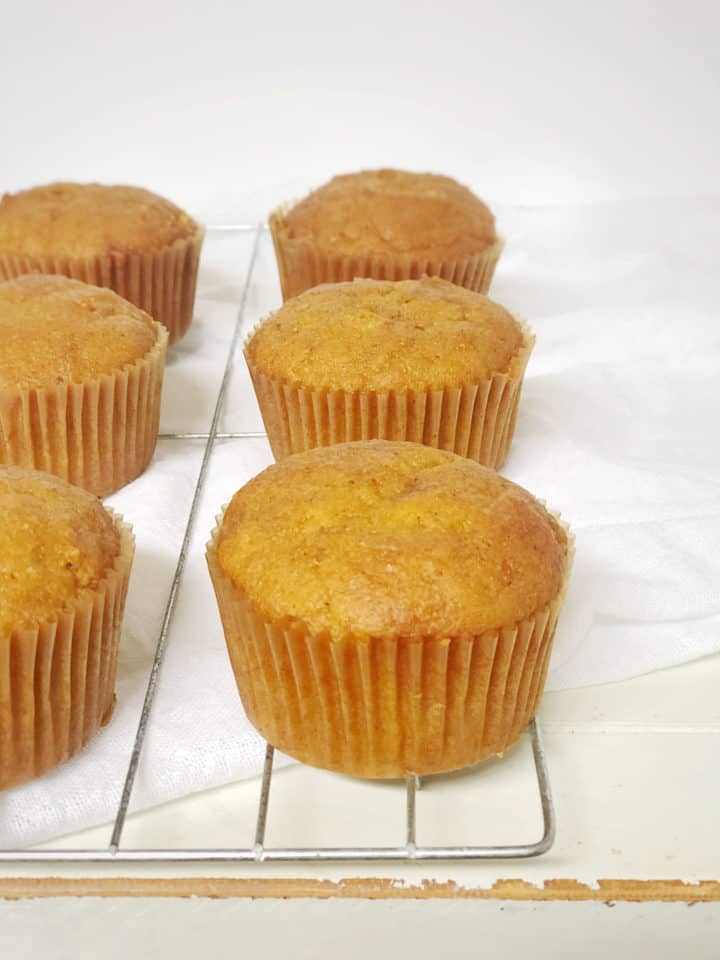 Cooked Muffins on a wire rack