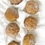 Flat lay of pumpkin muffins