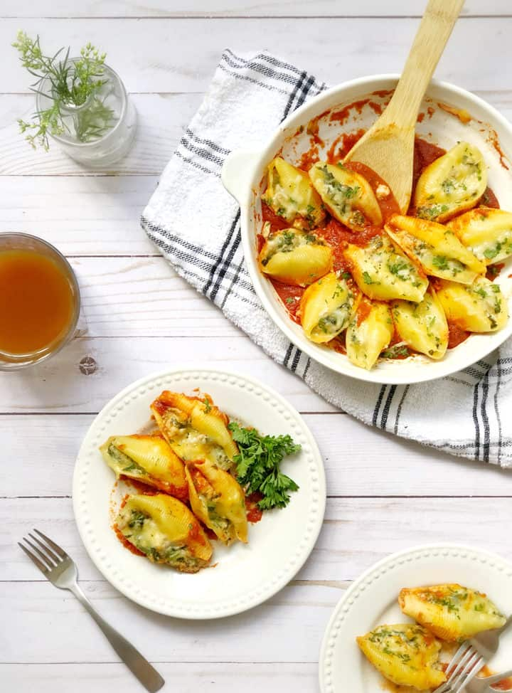 Plate of stuffed shells