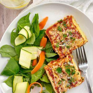 Two lasagna rolls