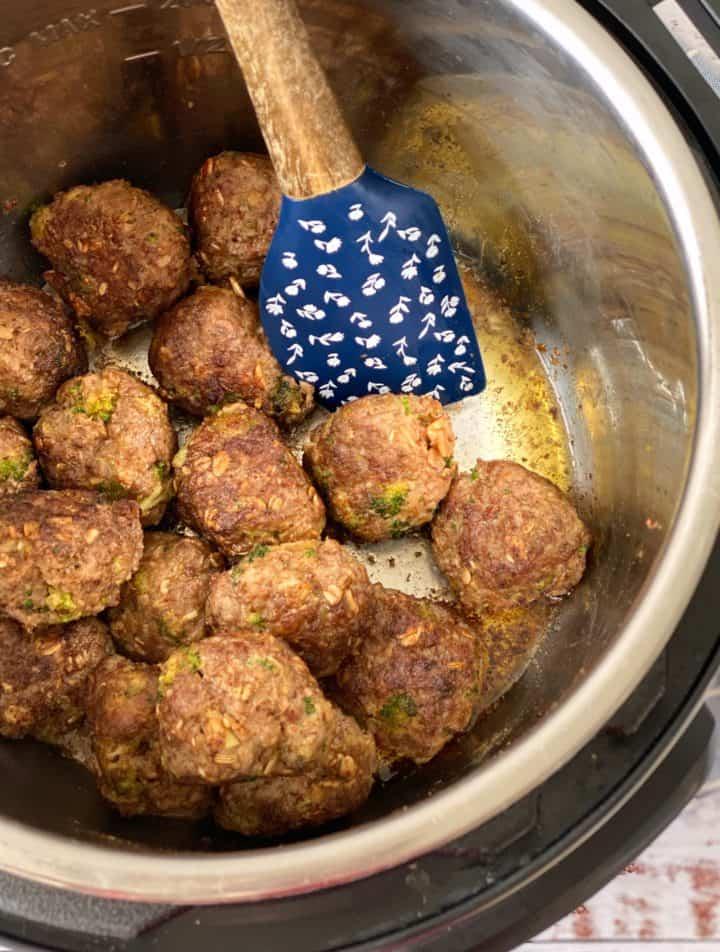 meatballs in instant pot browned