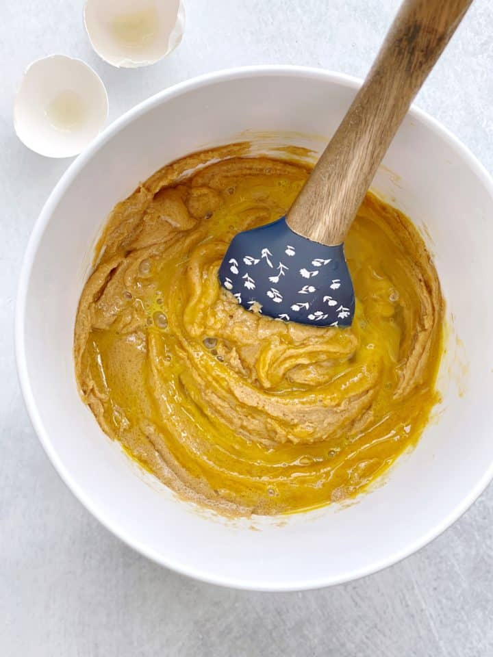 egg and peanut butter batter