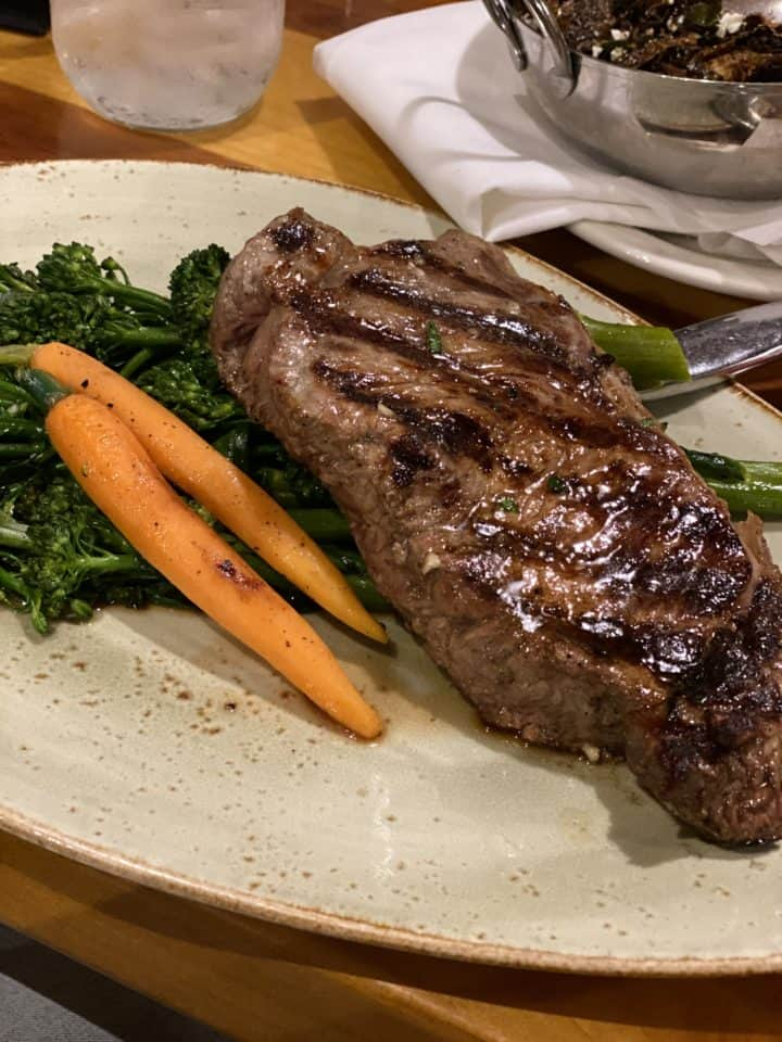 photo of steak with vegetables
