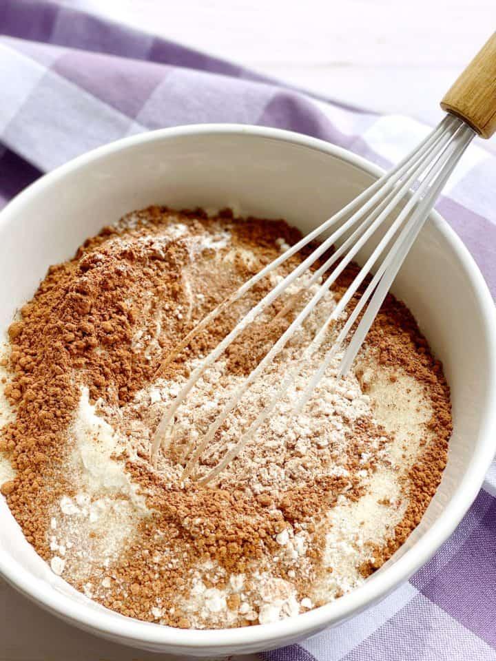 mixed baking ingredients