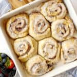 Over the top shot of cinnamon rolls