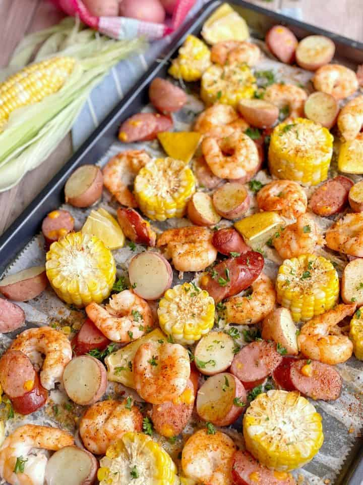 Sheet pan Seafood Shrimp Boil
