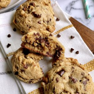Cookies on a napkin