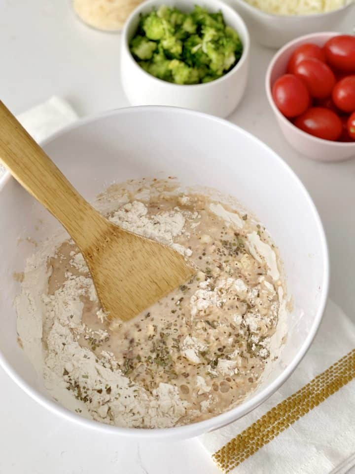 bowl of marinara flour