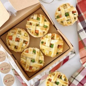 open box of chicken pot pies