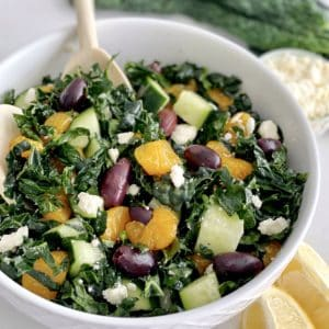 bowl of kale salad