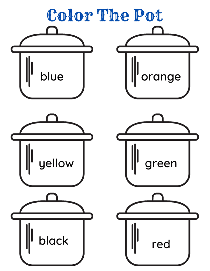 pots with difference colors