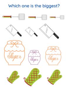 spatulas, sugar jars, knives