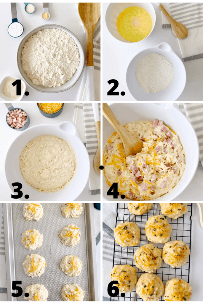 how to make cheddar biscuits step by step