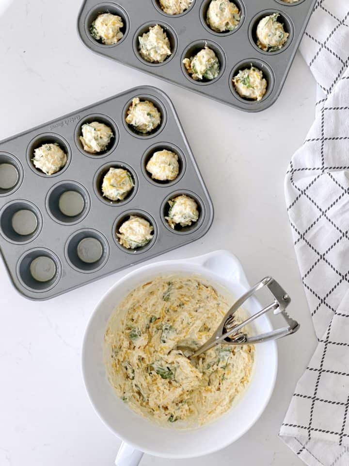 muffin tin with cookie scoop win mufin tin