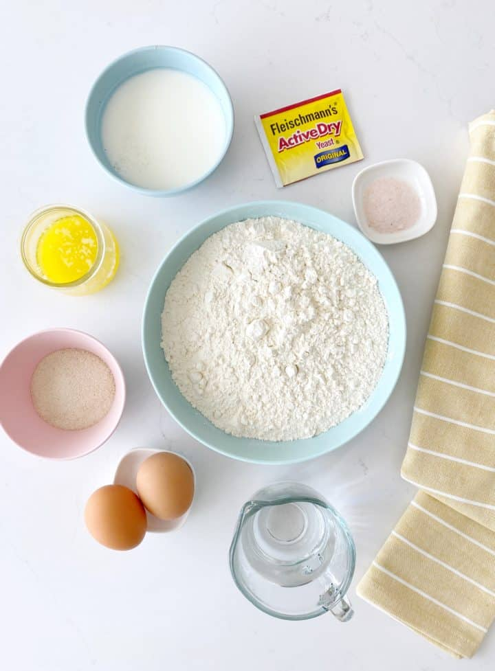 ingredients of milk bread recipe