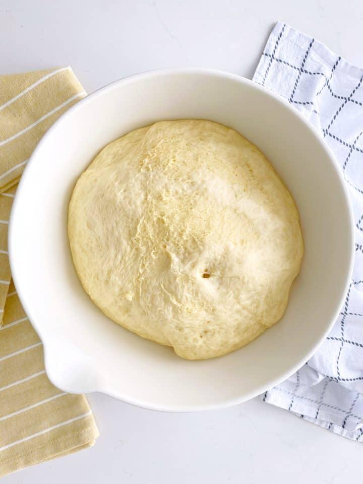 larger dough ball in a ball
