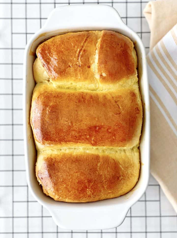 bread rolls in a cooking dish