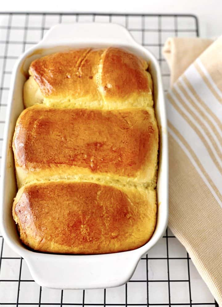 baked bread in a pan