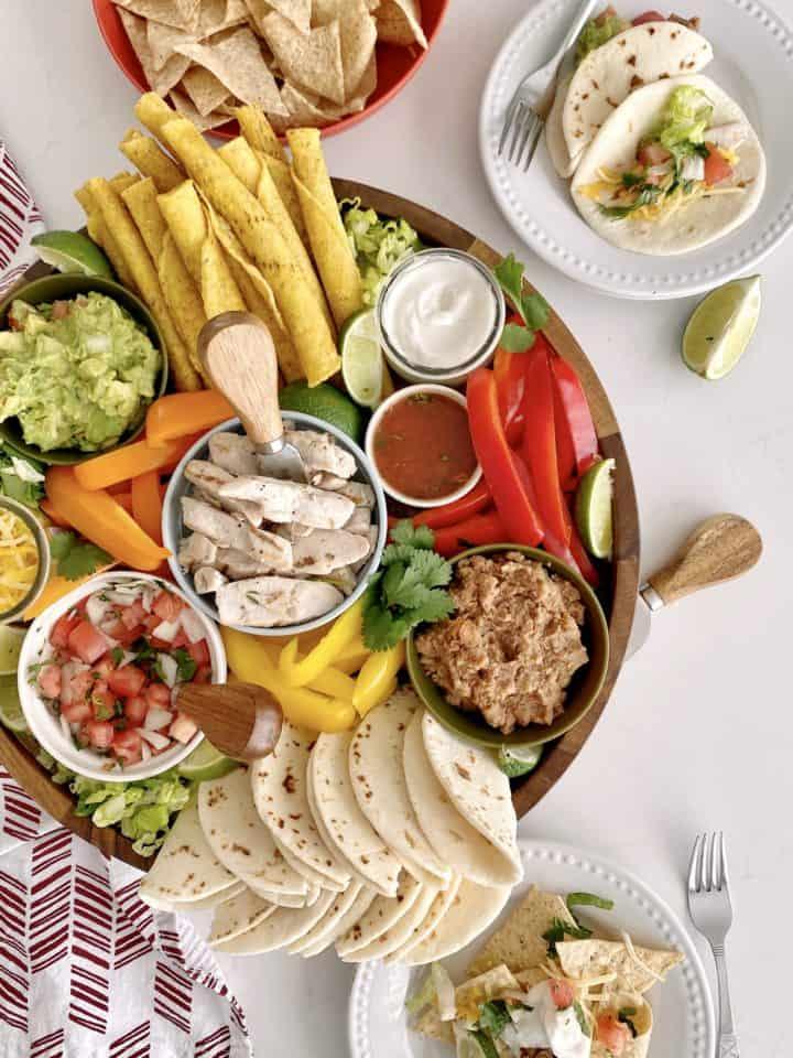 mexican snack board