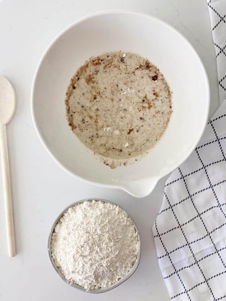 yeast in milk mixture