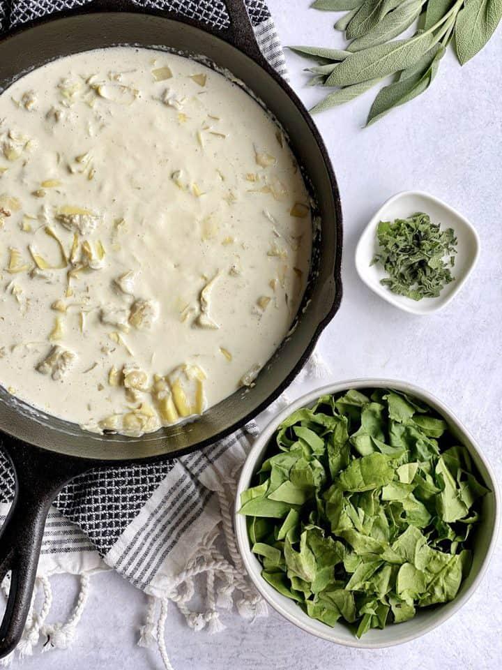 parmesan cheese and half and half