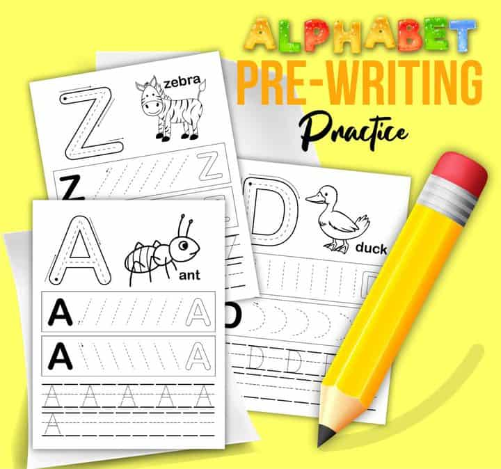 graphic of abc worksheets