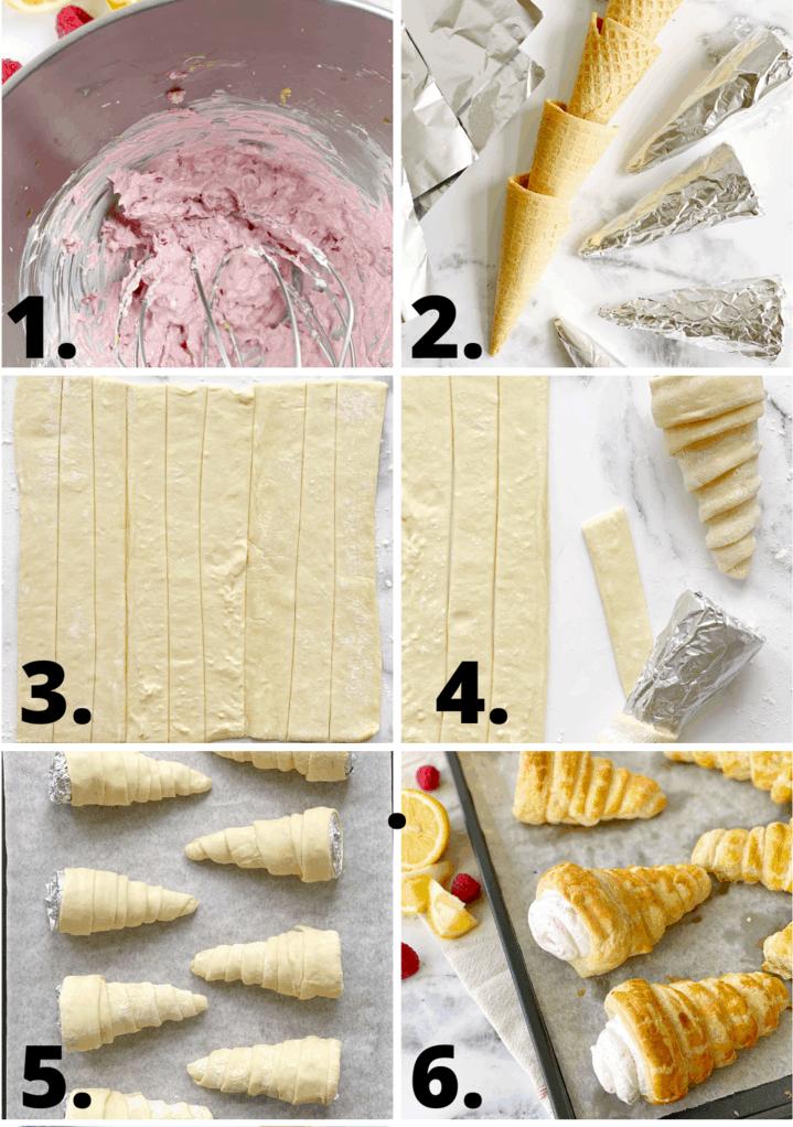 how to make cream horn diagram