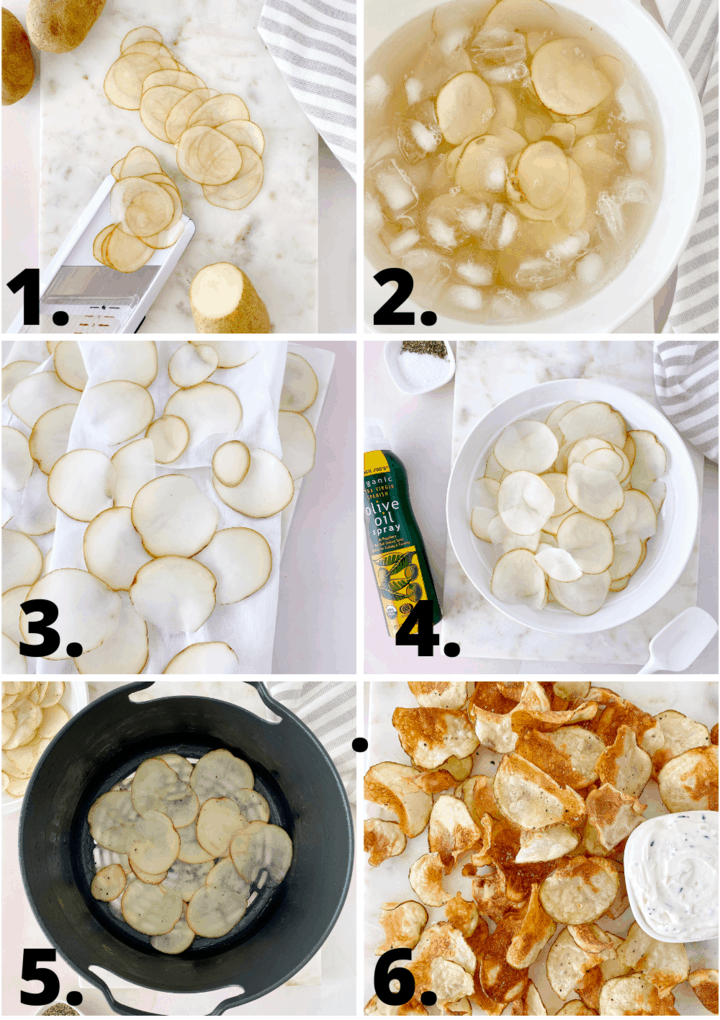 how to make air fryer potato chips