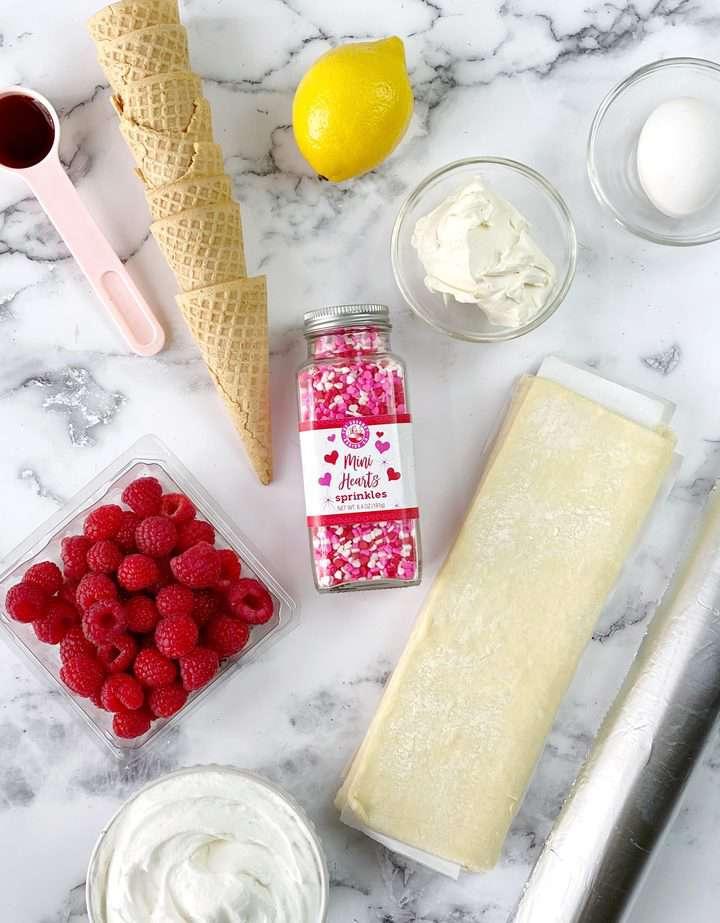 ingredients to make cream horn