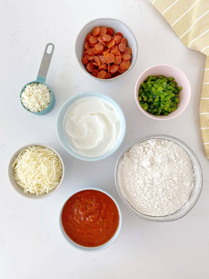 ingredients to make no yeast pizza dough