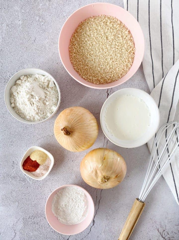 ingredients for air fryer onion rings