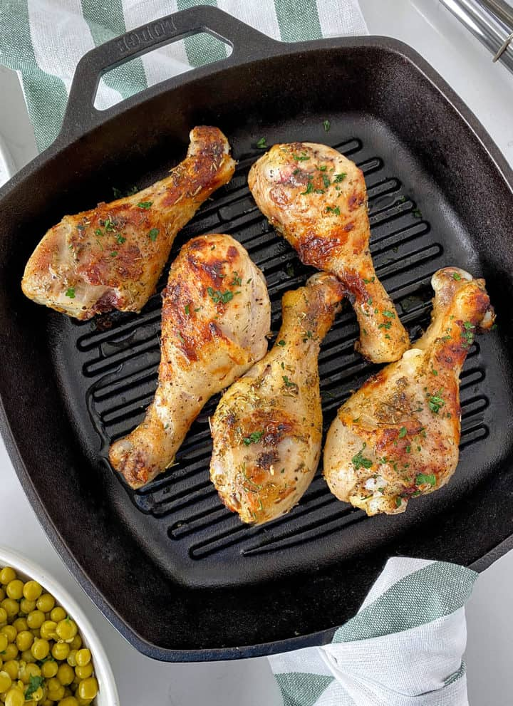 grilled chicken on a griddle