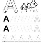 letter a worksheet with ant and letter